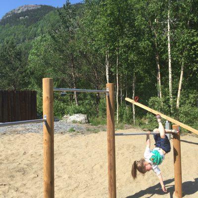 Endlich ein Spielplatz auf den Preikestolen-Campingplatz