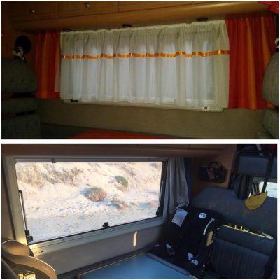 Vorhang und Gardinen entfernt und erneuert