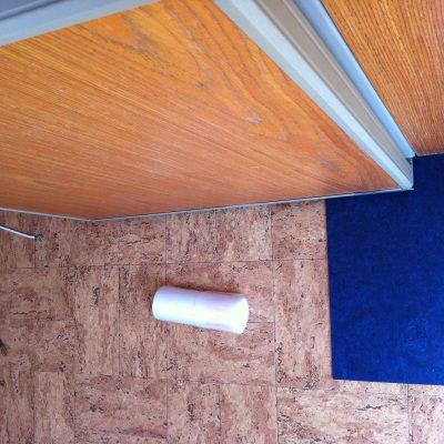 Farbmuster für den neuen Fußboden