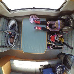 es lassen sich diverse Kindersitzmodelle einbauen!